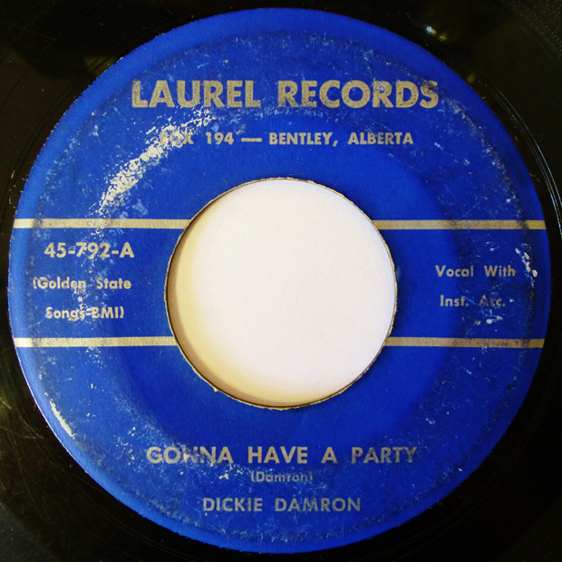 Vintage Vinyl: Dickie Damron – 'Rockin' Baby/Gonna Have A Party'